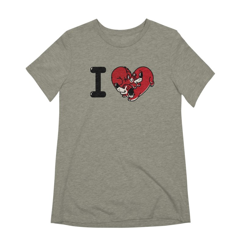 I heart dogs Women's Extra Soft T-Shirt by Rodrigobhz