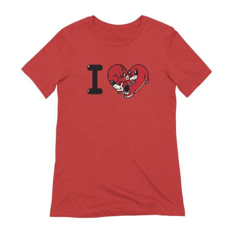 I heart dogs Women's Extra Soft T-Shirt by Rodrigobhz