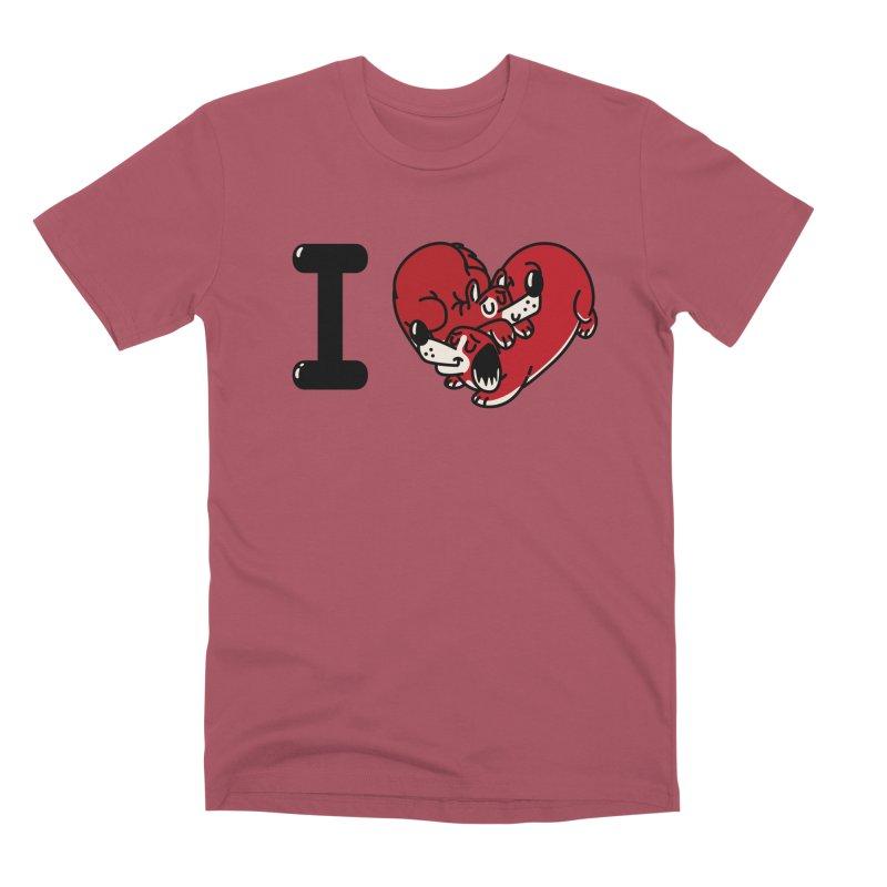 I heart dogs Men's Premium T-Shirt by Rodrigobhz