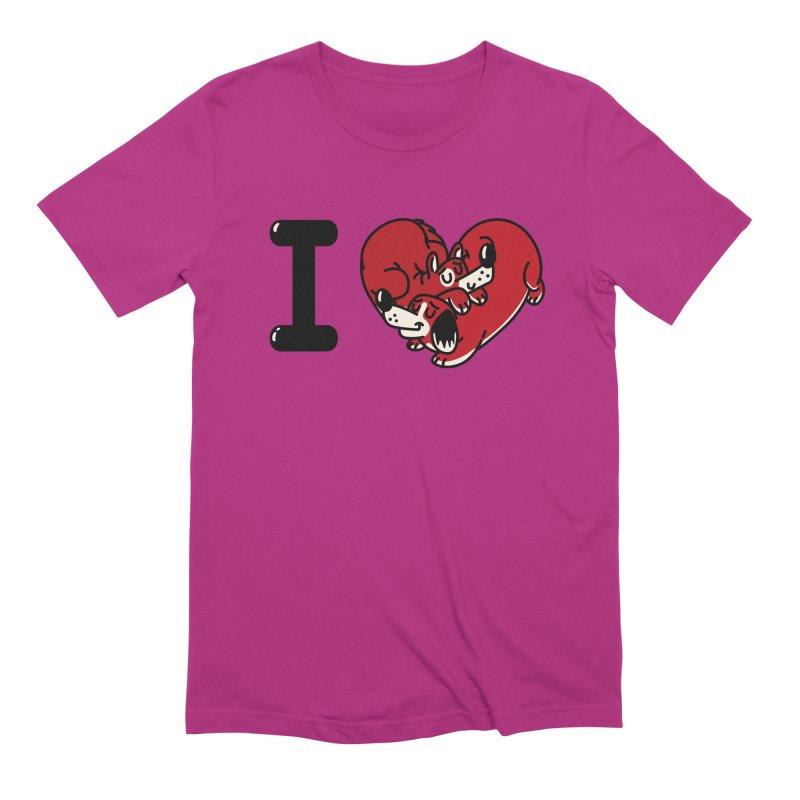 I heart dogs Men's Extra Soft T-Shirt by Rodrigobhz