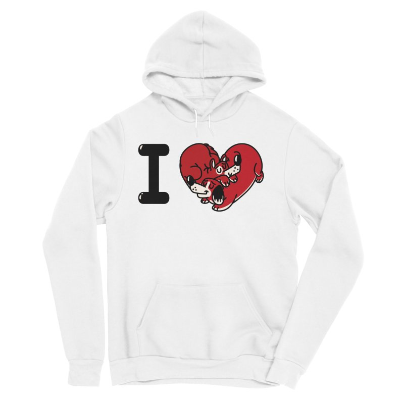 I heart dogs Women's Sponge Fleece Pullover Hoody by Rodrigobhz