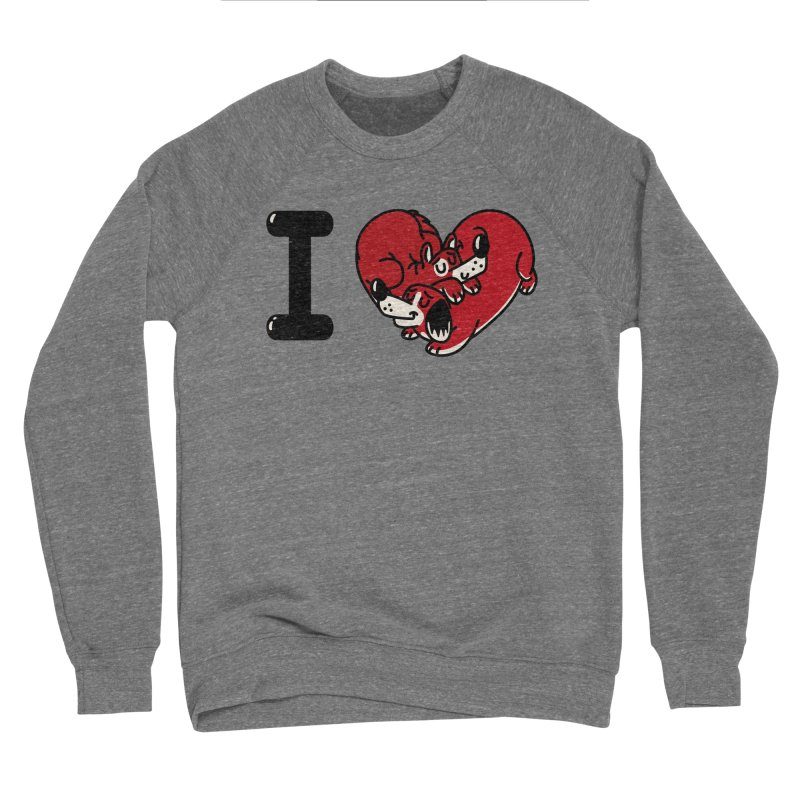 I heart dogs Women's Sponge Fleece Sweatshirt by Rodrigobhz