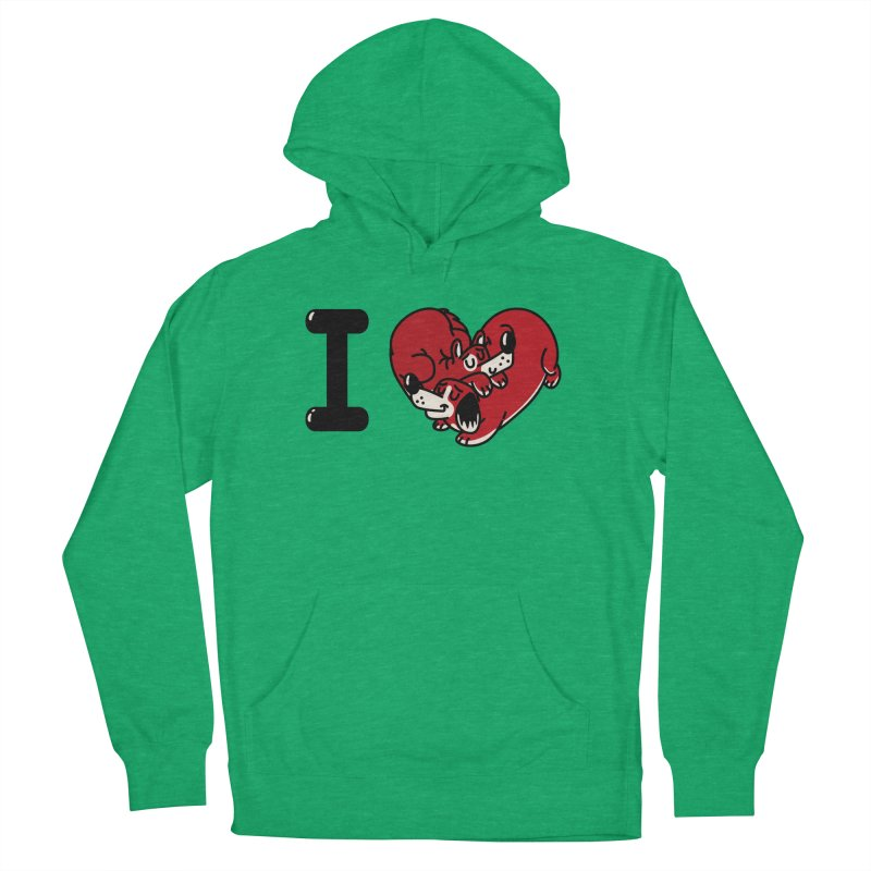 I heart dogs Women's French Terry Pullover Hoody by Rodrigobhz