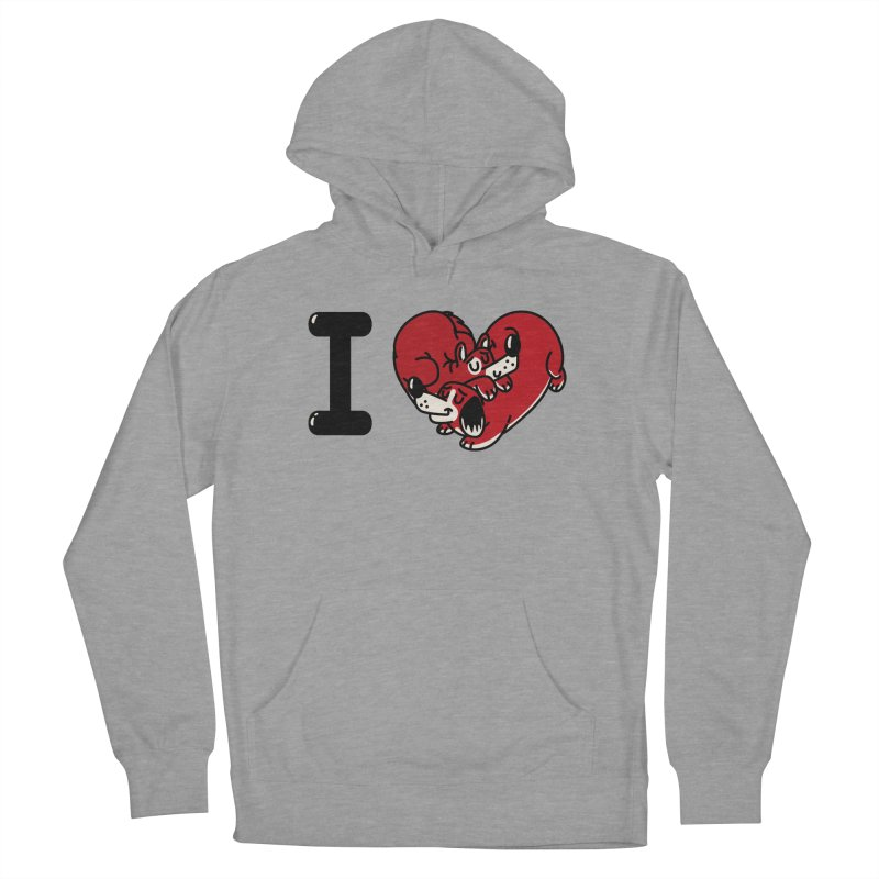 I heart dogs Men's French Terry Pullover Hoody by Rodrigobhz