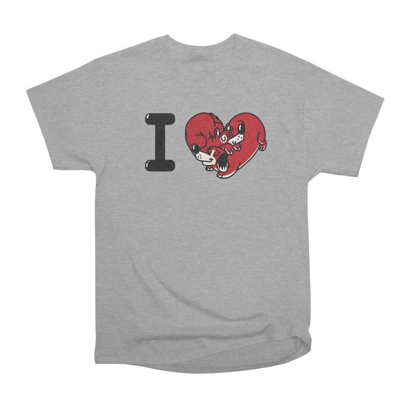 I heart dogs Men's Heavyweight T-Shirt by Rodrigobhz