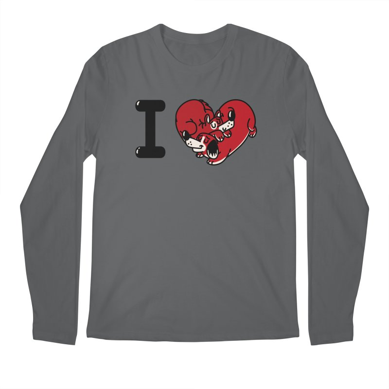 I heart dogs Men's Regular Longsleeve T-Shirt by Rodrigobhz