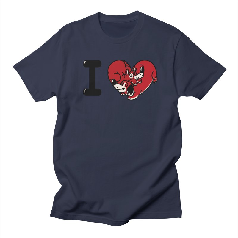 I heart dogs Women's Regular Unisex T-Shirt by Rodrigobhz