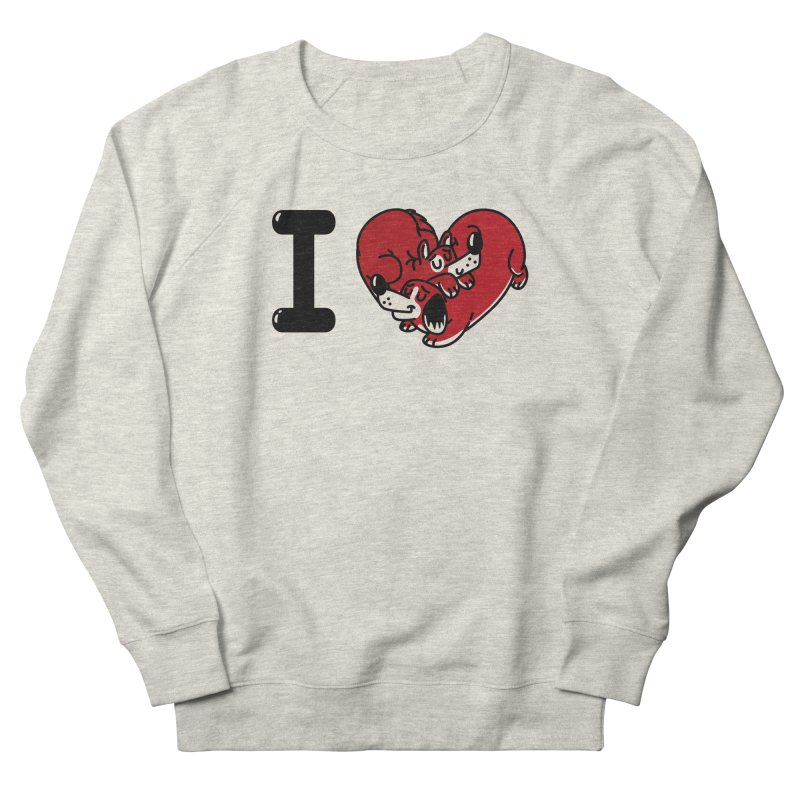 I heart dogs Women's French Terry Sweatshirt by Rodrigobhz