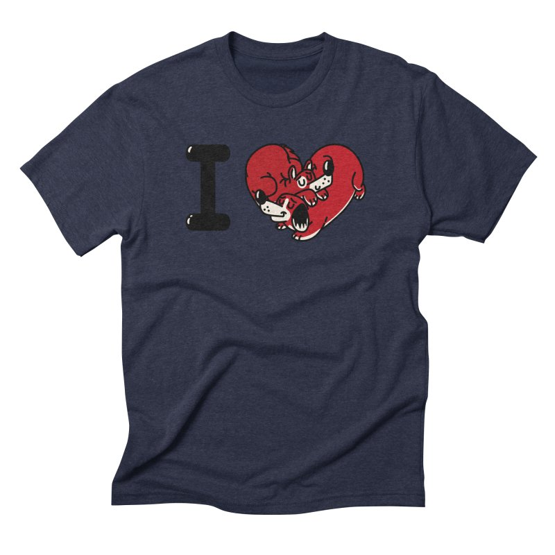 I heart dogs Men's Triblend T-Shirt by Rodrigobhz