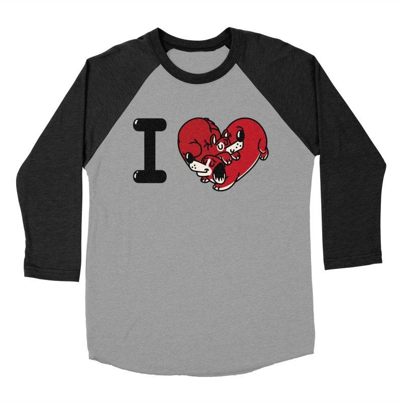 I heart dogs Women's Baseball Triblend Longsleeve T-Shirt by Rodrigobhz