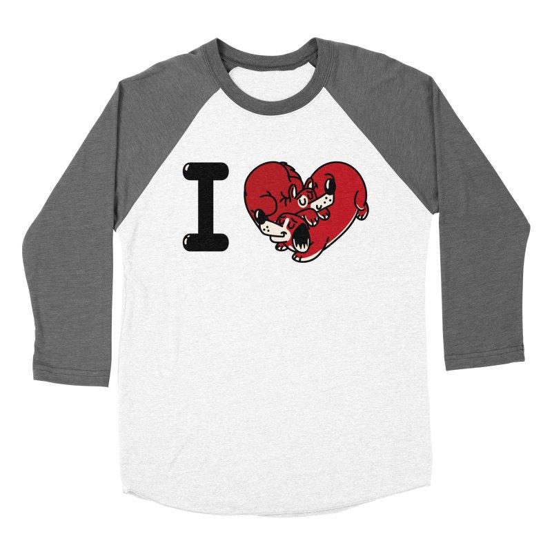 I heart dogs Men's Baseball Triblend Longsleeve T-Shirt by Rodrigobhz