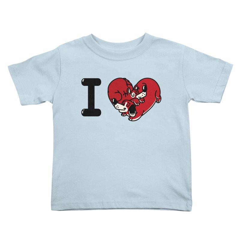I heart dogs Kids Toddler T-Shirt by Rodrigobhz