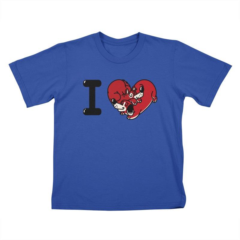 I heart dogs Kids T-Shirt by Rodrigobhz
