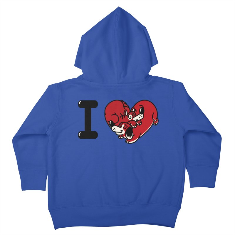 I heart dogs Kids Toddler Zip-Up Hoody by Rodrigobhz