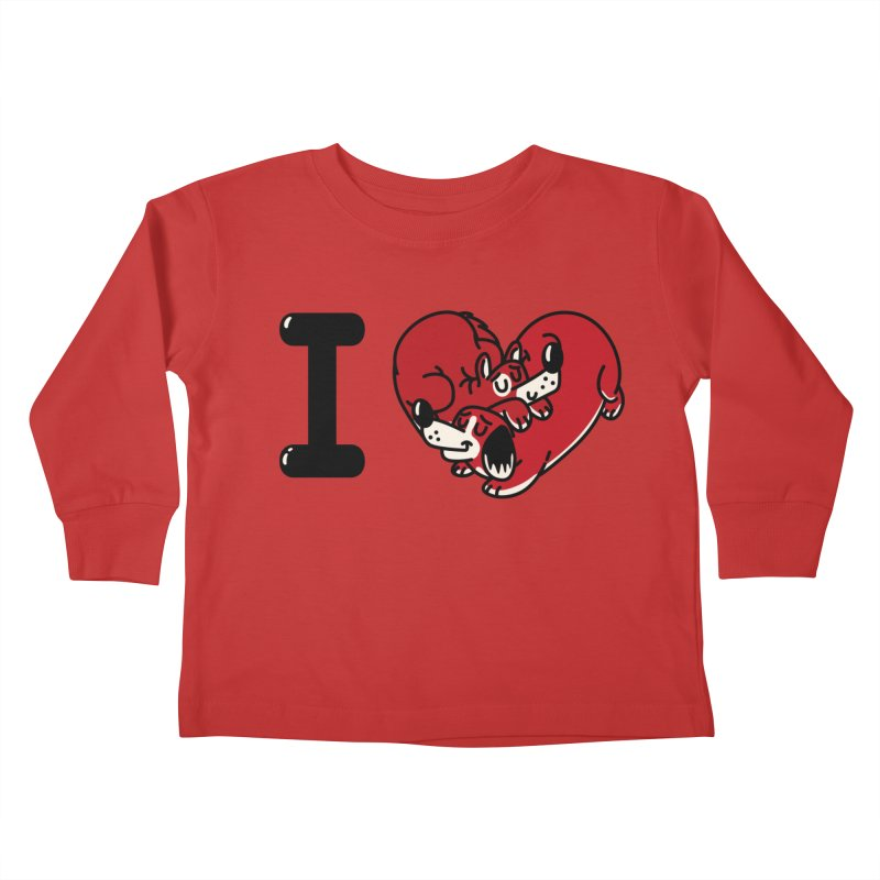 I heart dogs Kids Toddler Longsleeve T-Shirt by Rodrigobhz