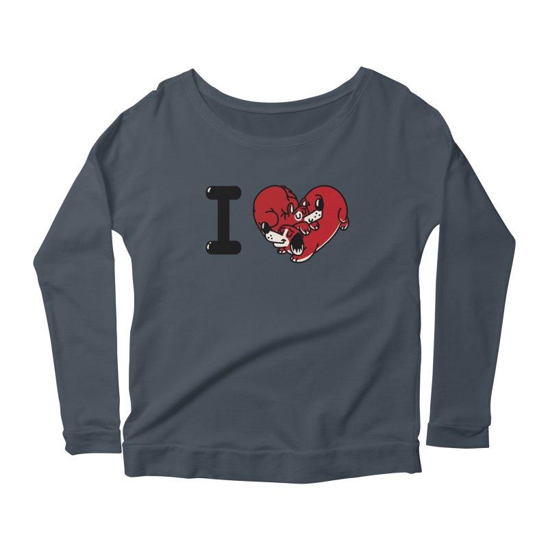 I heart dogs Women's Scoop Neck Longsleeve T-Shirt by Rodrigobhz