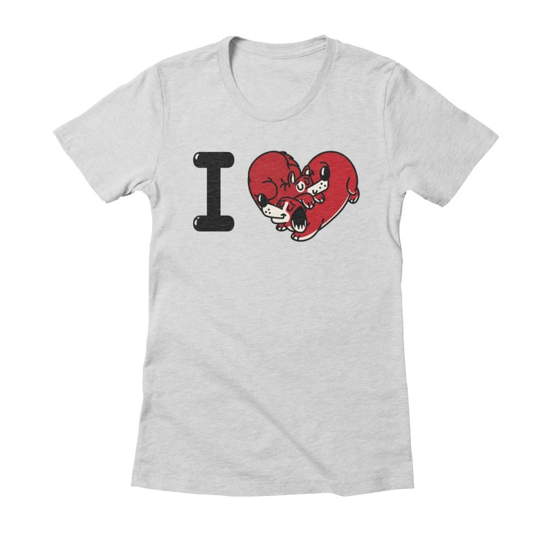 I heart dogs Women's Fitted T-Shirt by Rodrigobhz