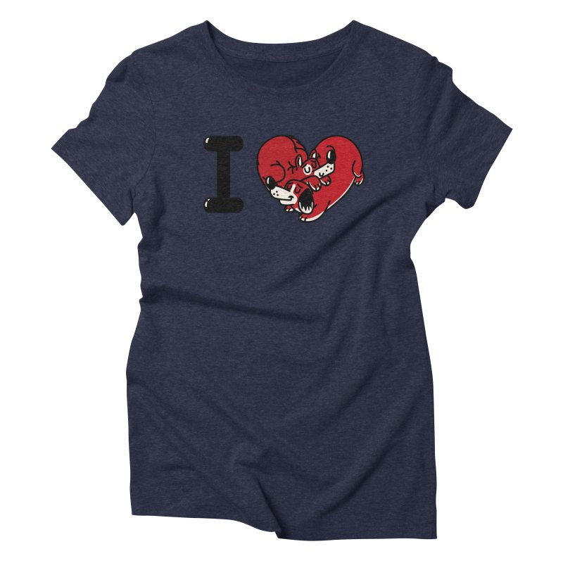 I heart dogs Women's Triblend T-Shirt by Rodrigobhz
