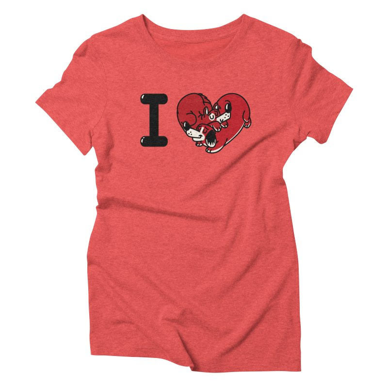 I heart dogs Women's Triblend T-Shirt by Rodrigobhz