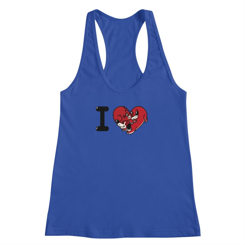 I heart dogs Women's Racerback Tank by Rodrigobhz