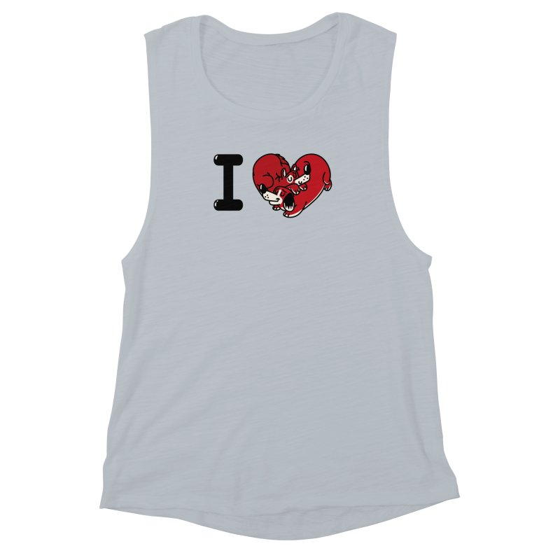 I heart dogs Women's Muscle Tank by Rodrigobhz