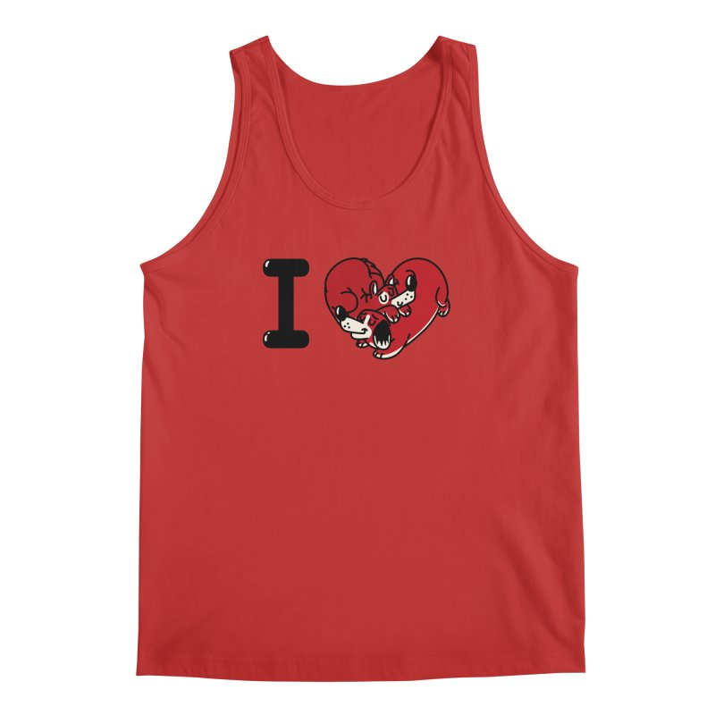 I heart dogs Men's Regular Tank by Rodrigobhz