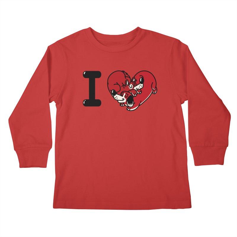 I heart dogs Kids Longsleeve T-Shirt by Rodrigobhz