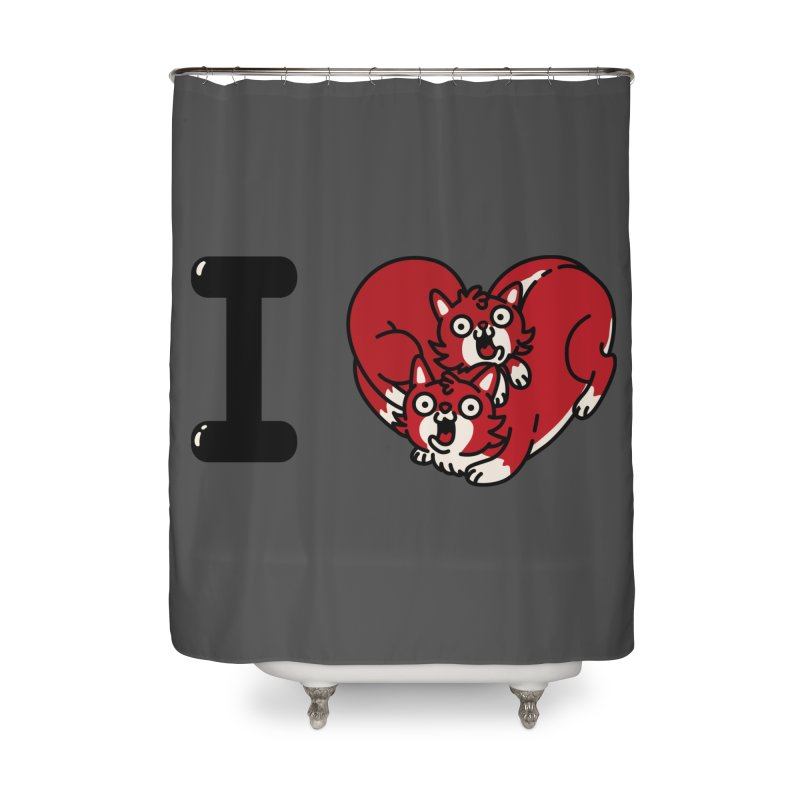 I heart cats Home Shower Curtain by Rodrigobhz