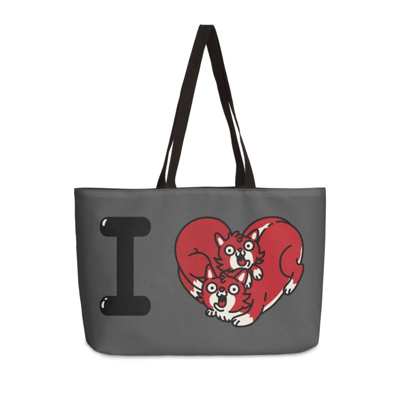 I heart cats Accessories Weekender Bag Bag by Rodrigobhz