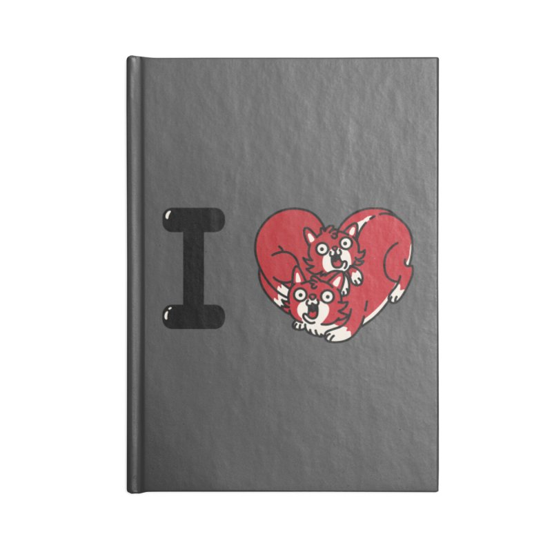 I heart cats Accessories Lined Journal Notebook by Rodrigobhz