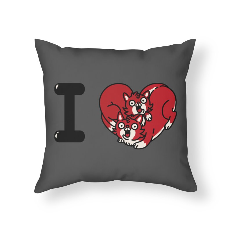 I heart cats Home Throw Pillow by Rodrigobhz
