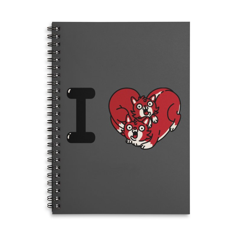 I heart cats Accessories Lined Spiral Notebook by Rodrigobhz
