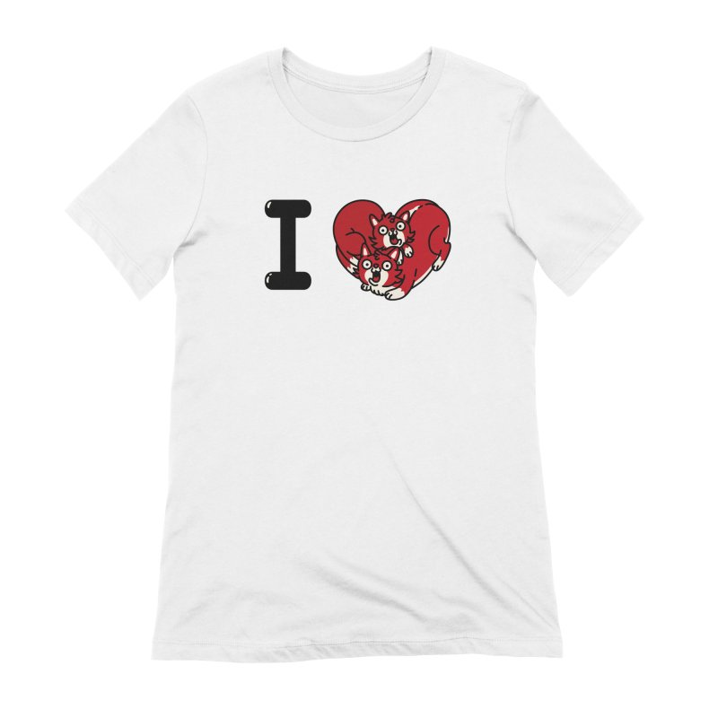 I heart cats Women's Extra Soft T-Shirt by Rodrigobhz