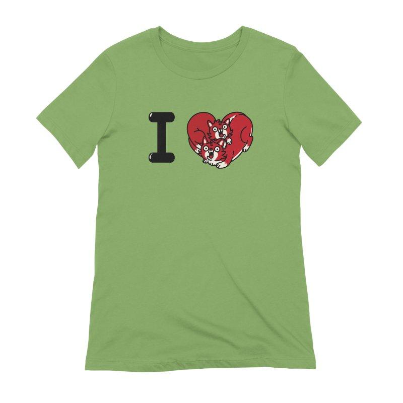 I heart cats Women's Extra Soft T-Shirt by Rodrigobhz