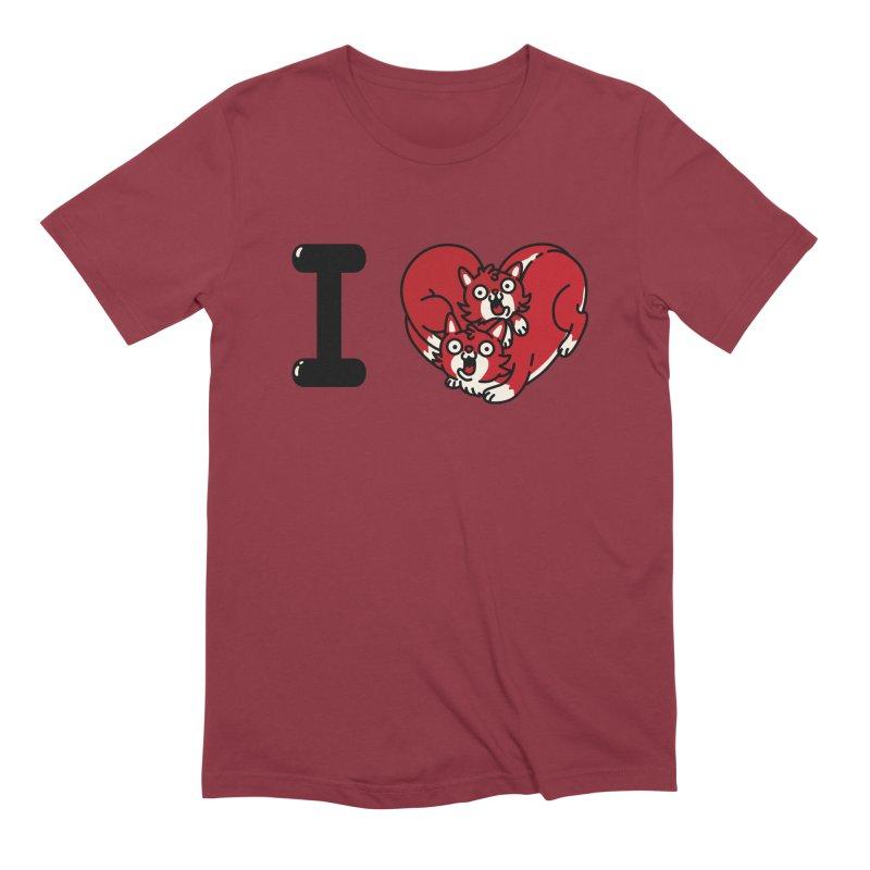 I heart cats Men's Extra Soft T-Shirt by Rodrigobhz