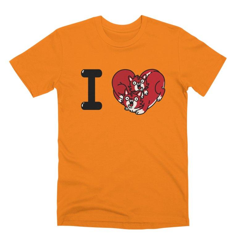 I heart cats Men's Premium T-Shirt by Rodrigobhz