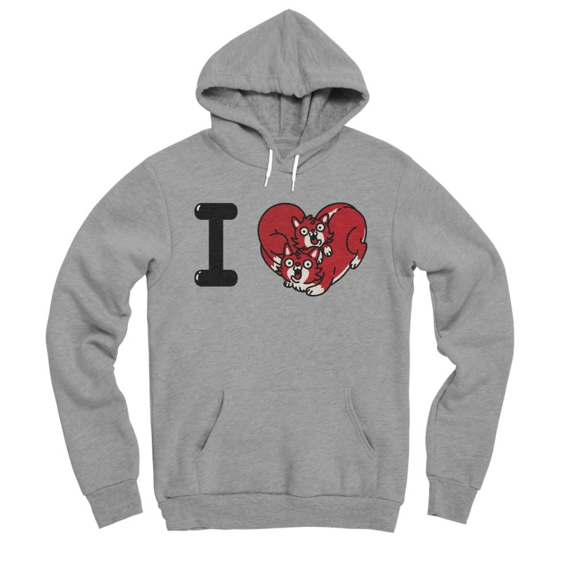 I heart cats Women's Sponge Fleece Pullover Hoody by Rodrigobhz