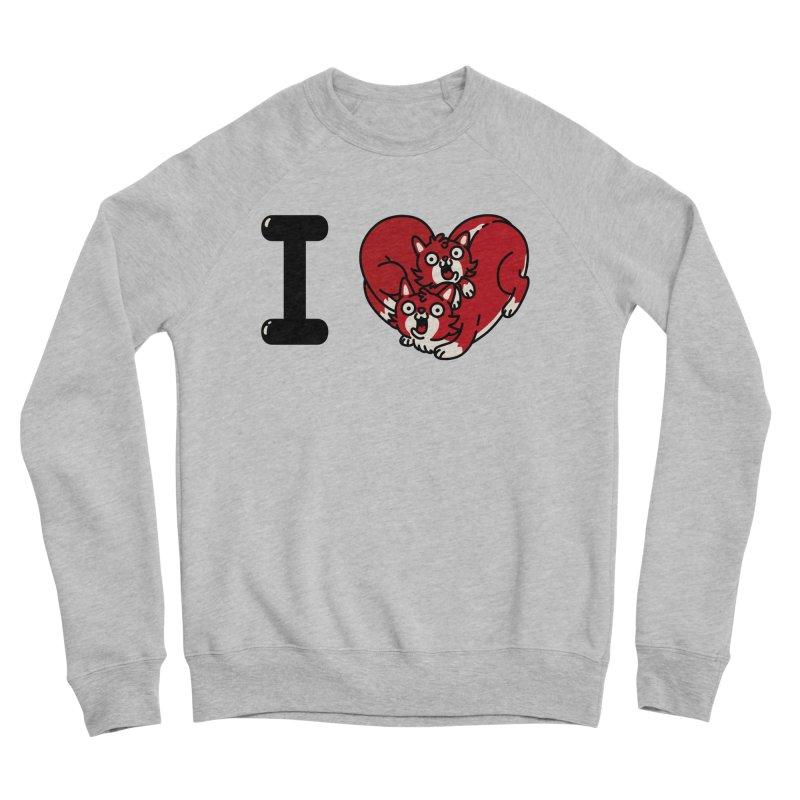 I heart cats Women's Sponge Fleece Sweatshirt by Rodrigobhz