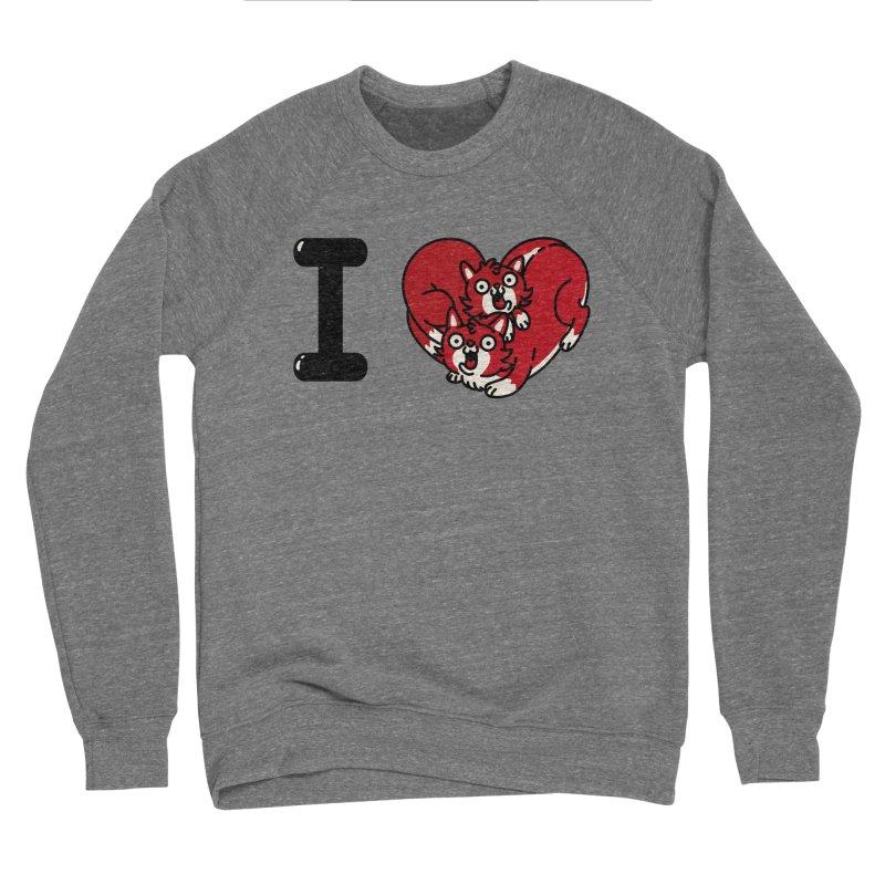 I heart cats Men's Sponge Fleece Sweatshirt by Rodrigobhz