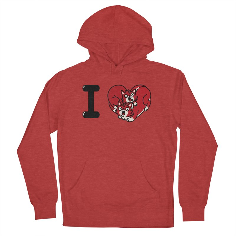 I heart cats Women's French Terry Pullover Hoody by Rodrigobhz