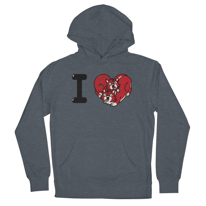 I heart cats Men's French Terry Pullover Hoody by Rodrigobhz