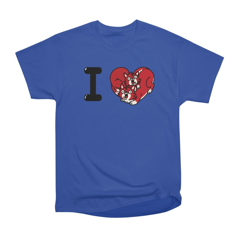 I heart cats Men's Heavyweight T-Shirt by Rodrigobhz