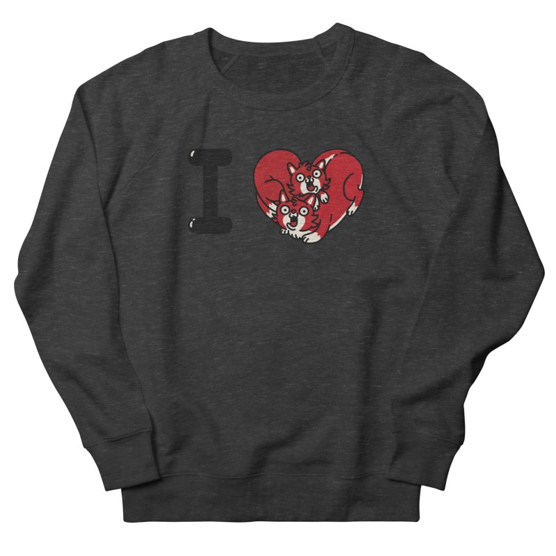 I heart cats Women's French Terry Sweatshirt by Rodrigobhz