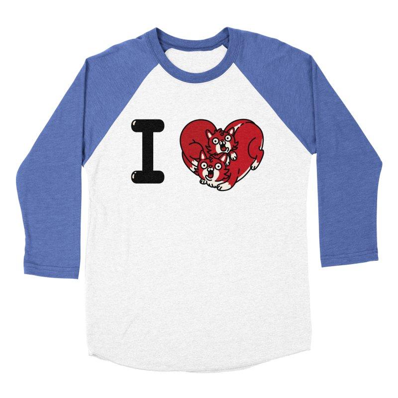 I heart cats Men's Baseball Triblend Longsleeve T-Shirt by Rodrigobhz