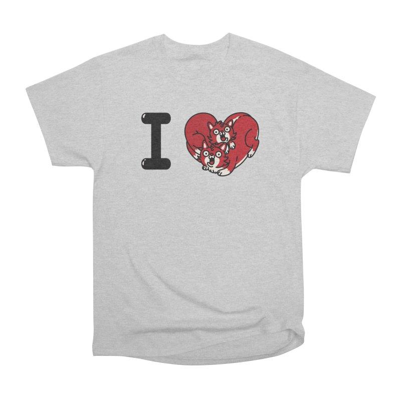 I heart cats Men's Heavyweight T-Shirt by Rodrigobhz