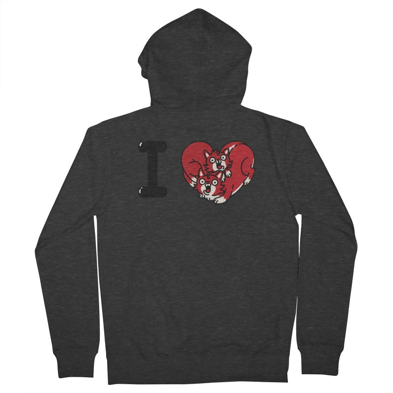 I heart cats Women's French Terry Zip-Up Hoody by Rodrigobhz