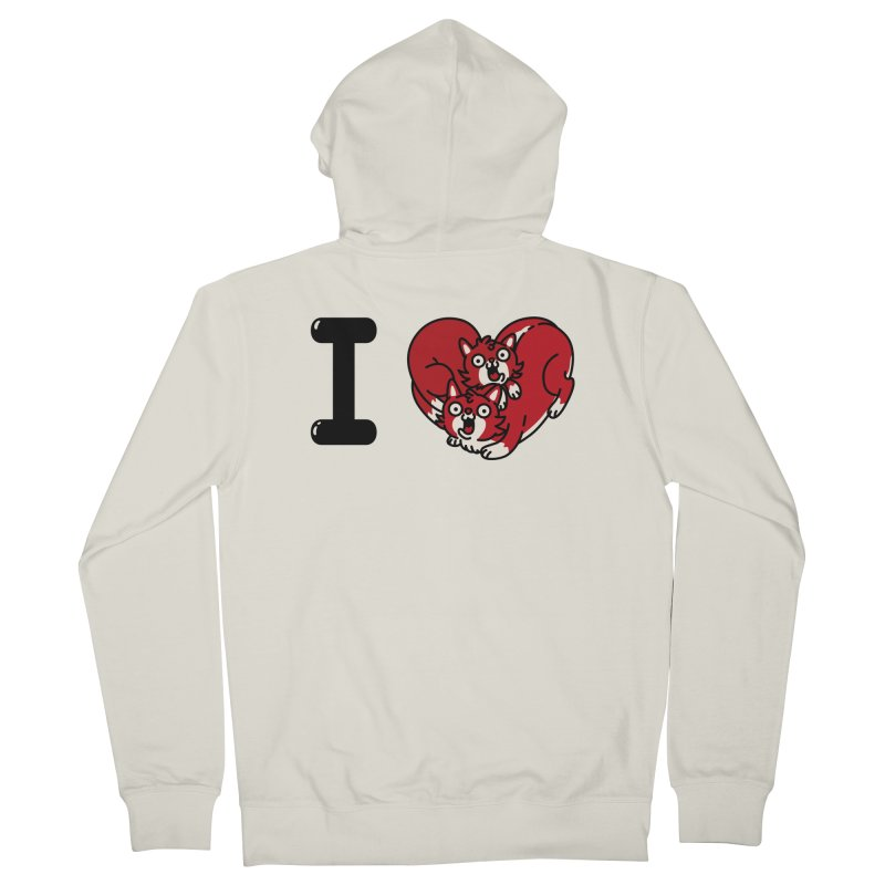 I heart cats Men's French Terry Zip-Up Hoody by Rodrigobhz