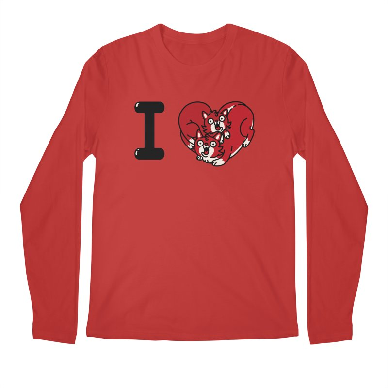 I heart cats Men's Regular Longsleeve T-Shirt by Rodrigobhz