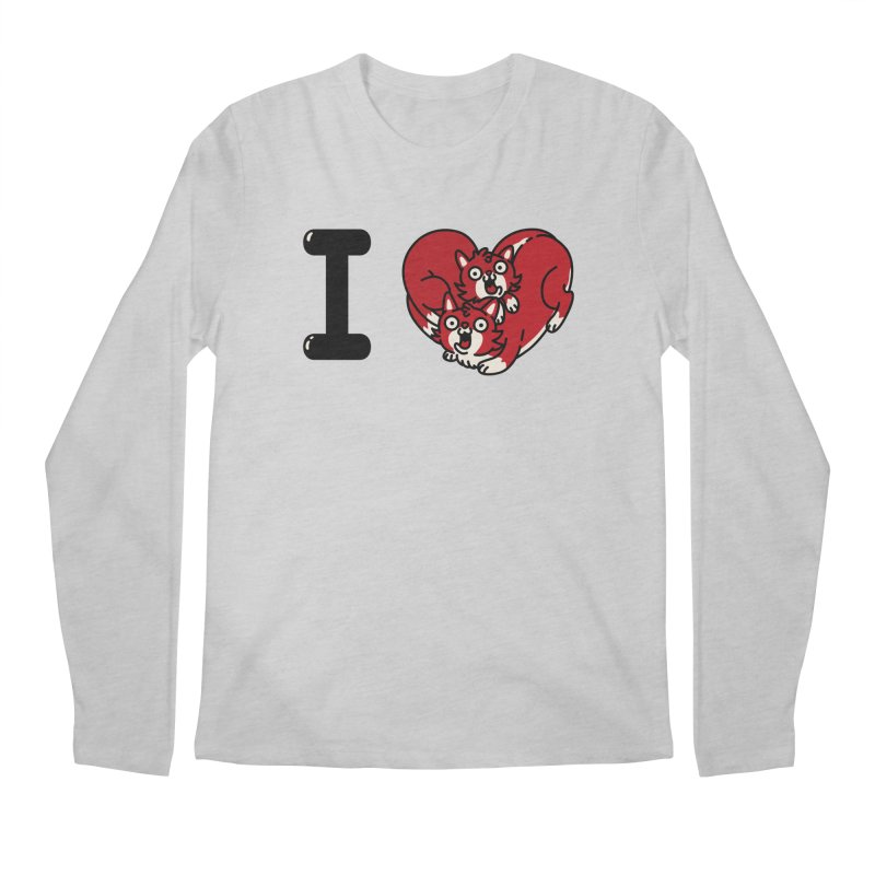 I heart cats Men's Regular Longsleeve T-Shirt by Rodrigobhz