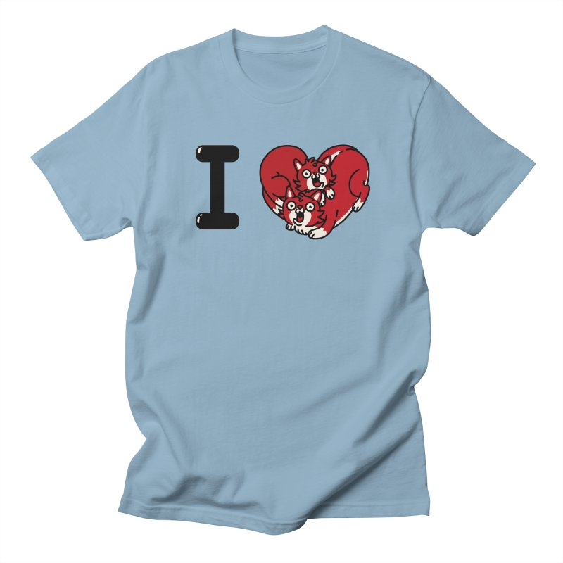 I heart cats Women's Regular Unisex T-Shirt by Rodrigobhz